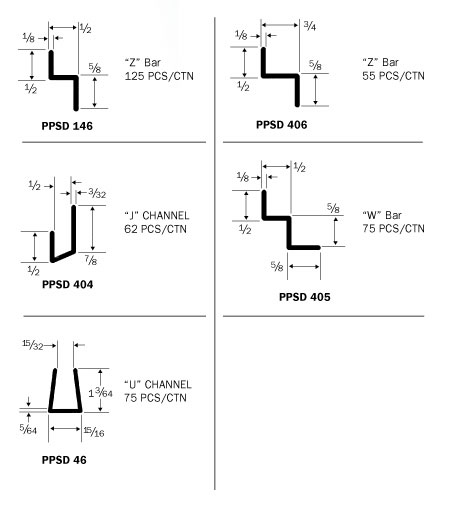 Stock PETG Shapes