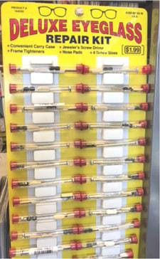 Clear Plastic Tube Packaging for Eyeglass Repair Kits