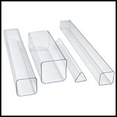 clear shaped tubes